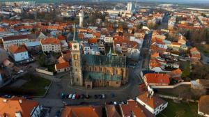 Letecké záběry kostela 2017